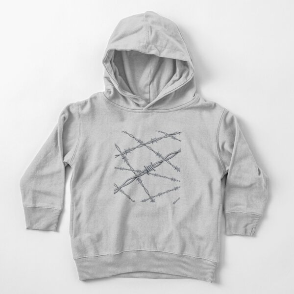 Realistic 3d detailed #barbed #wire line background Toddler Pullover Hoodie