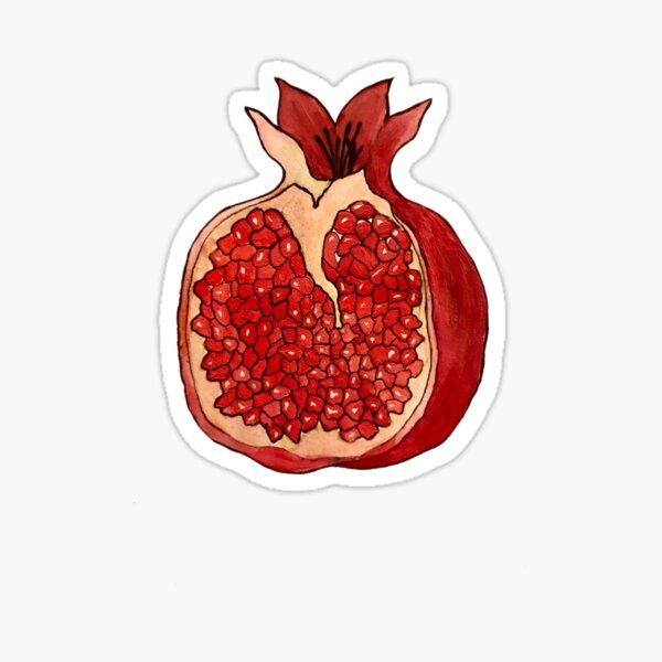 Pomegranate Watercolour Sticker