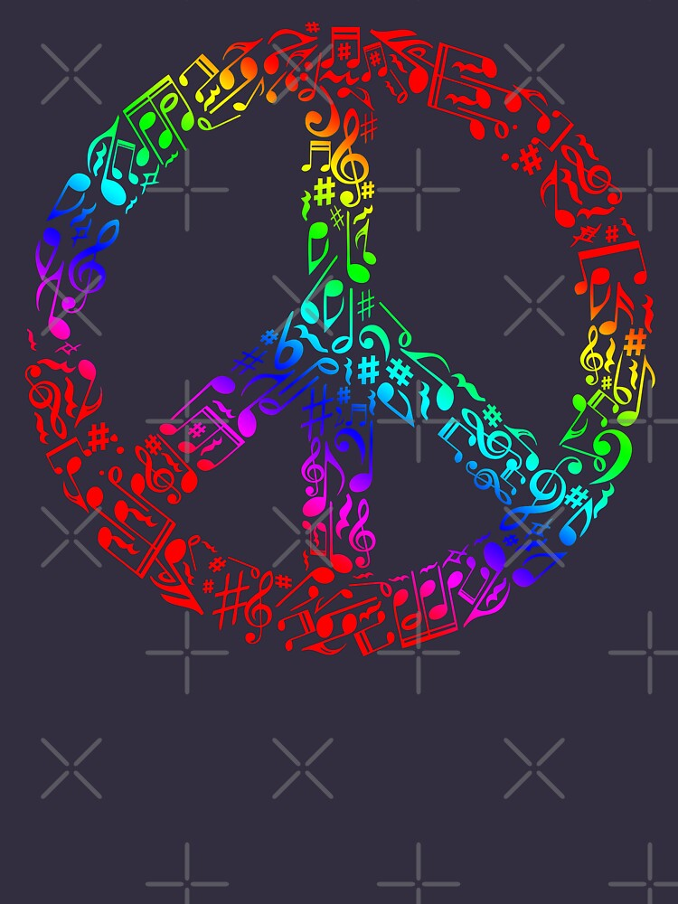 The Sound of Peace Rainbow by Skullz23