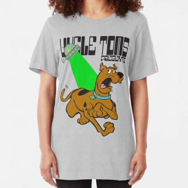 scooby versus spongebob by rogers bros Slim Fit T-Shirt