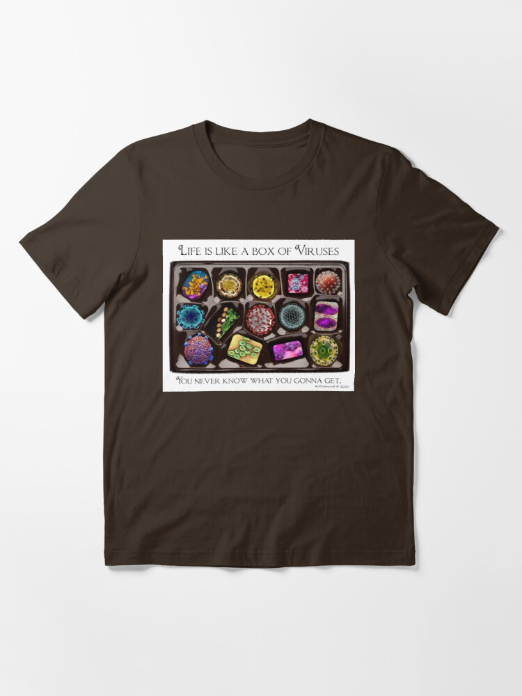 Alternate view of A Box of Viruses Essential T-Shirt