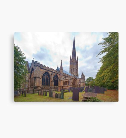 St. Wulframs Church (Back view) Grantham, Lincs. Canvas Print
