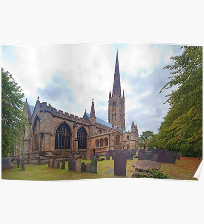 St. Wulframs Church (Back view) Grantham, Lincs. Poster