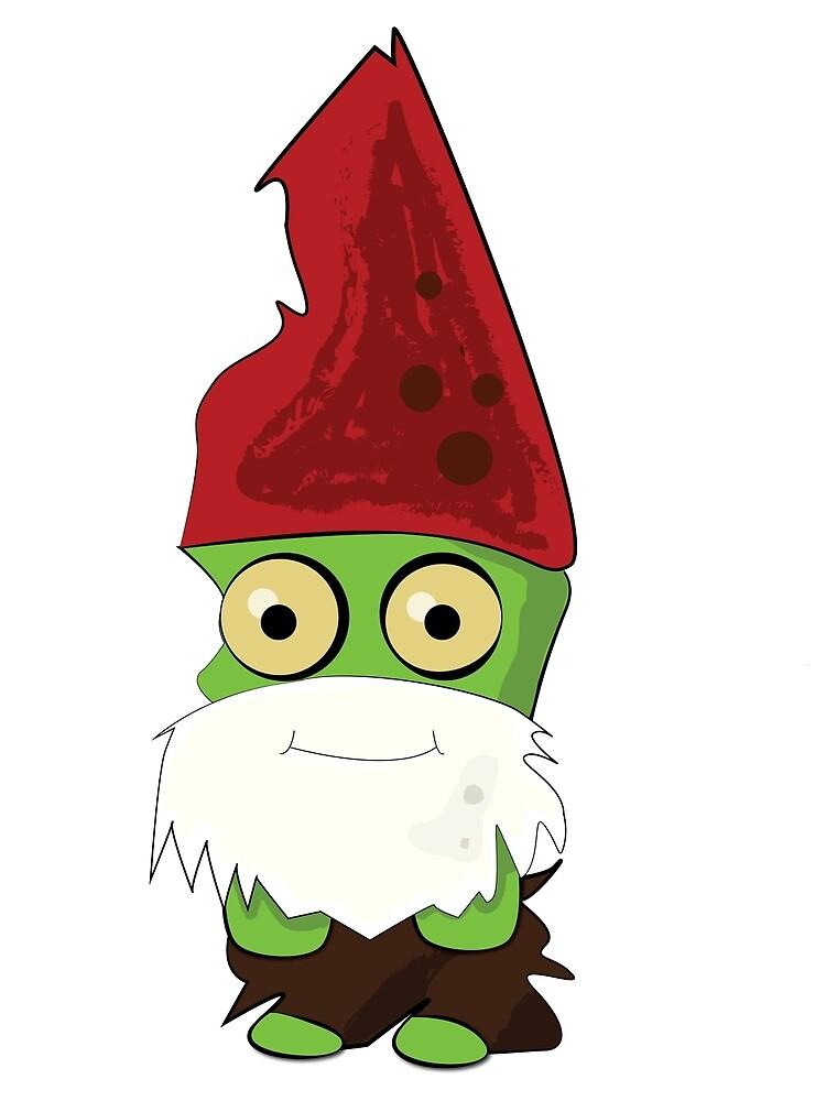 Ernie the friendly zombie gnome  by cherriestmuffy