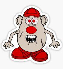 Zombie Potato Head Sticker