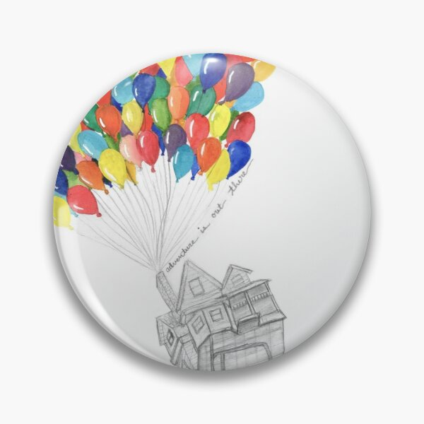 """""""adventure is out there"""" up house with balloons Pin"""
