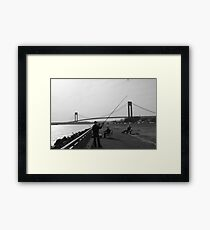 A Fishing Man Framed Print