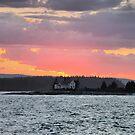 'Lighthouse Beneath a Firey Sky' by Scott Bricker