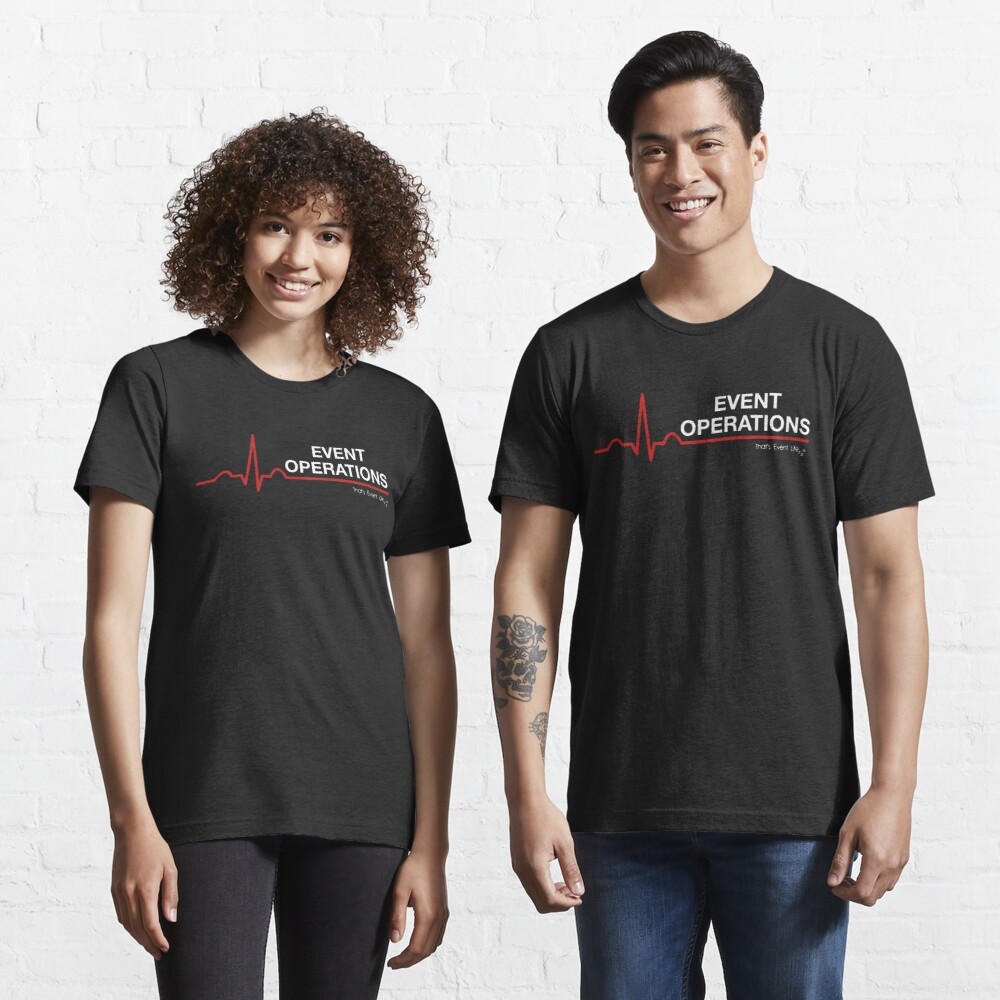 Event Medicine Operations ECG Style (White/Red) Essential T-Shirt