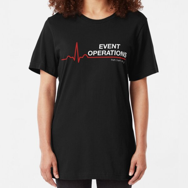 Event Medicine Operations ECG Style (White/Red) Slim Fit T-Shirt