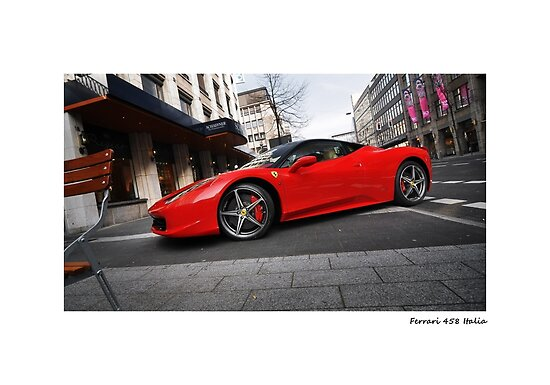 Ferrari 458 Italia poster by Fat-Free-Pie