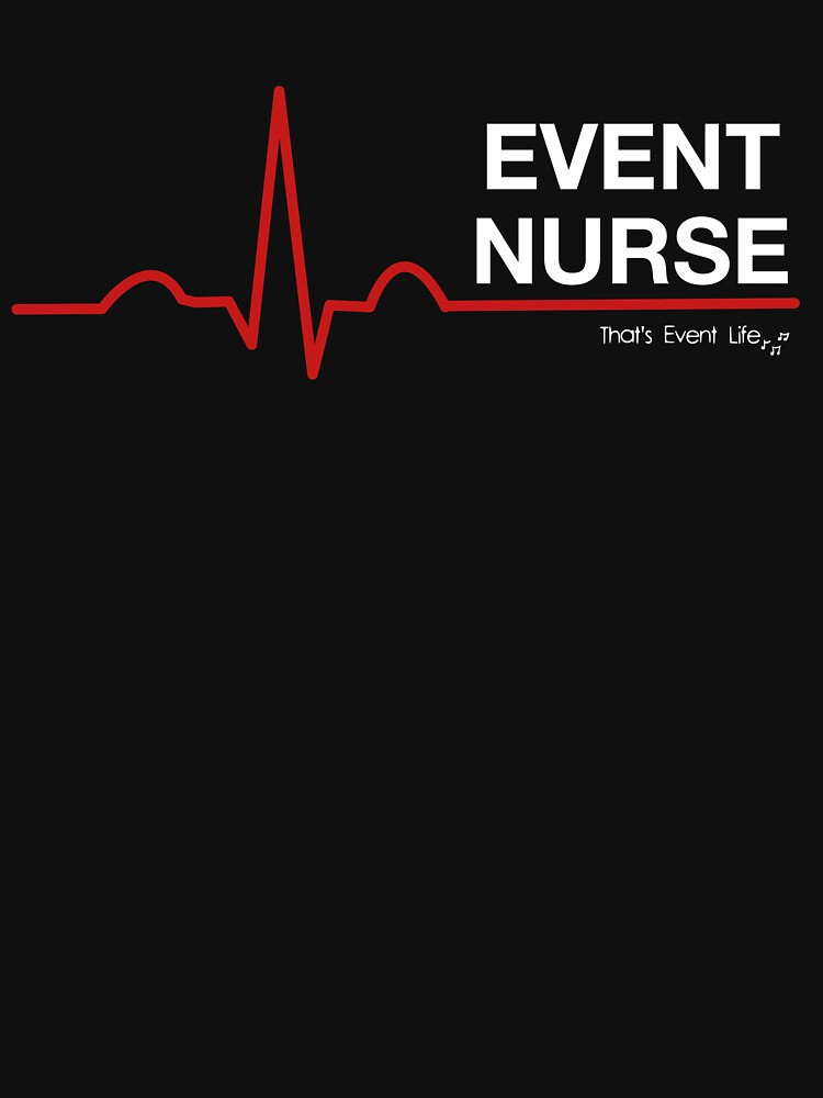 Event Medicine Nurse ECG Style (White/Red) by ThatsEventLife