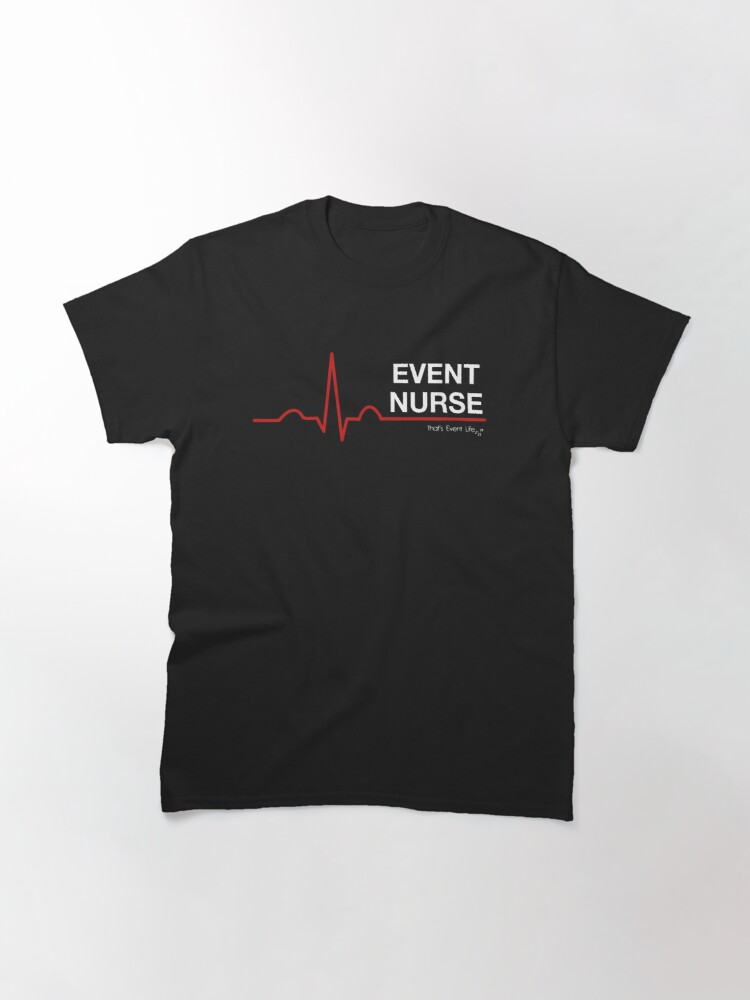 Alternate view of Event Medicine Nurse ECG Style (White/Red) Classic T-Shirt
