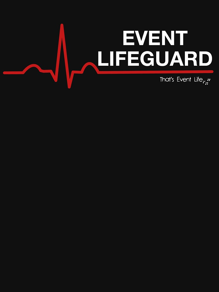 Event Medicine Lifeguard ECG Style (White/Red) by ThatsEventLife