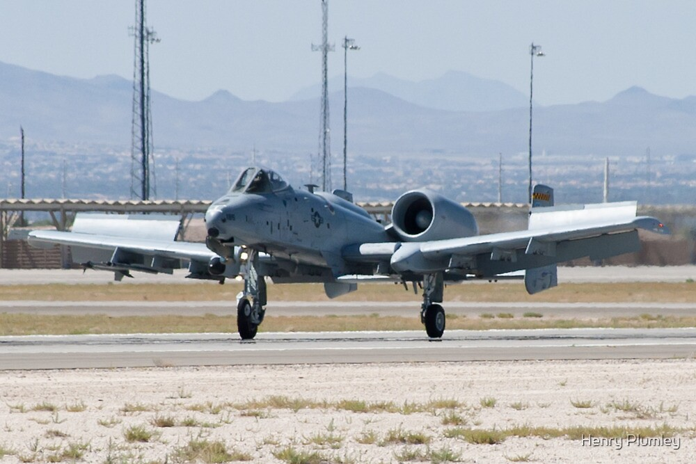 A-10A Thunderbolt II, WA AF 80-0184 Landing by Henry Plumley