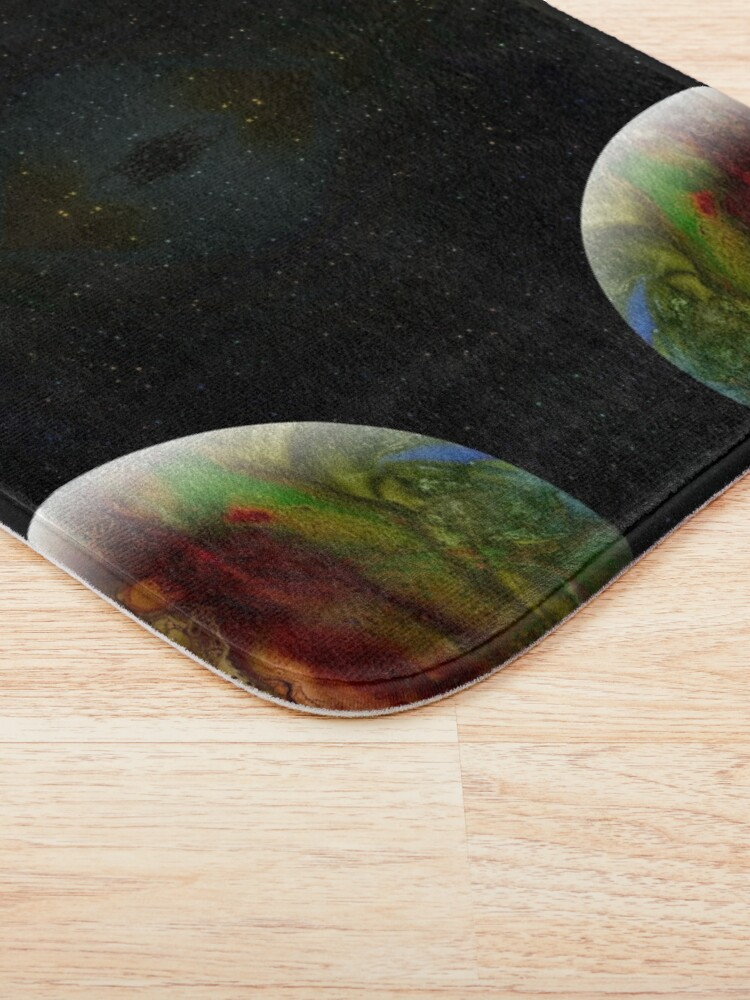 Alternate view of Summer in the Long Year : outer space planet art Bath Mat