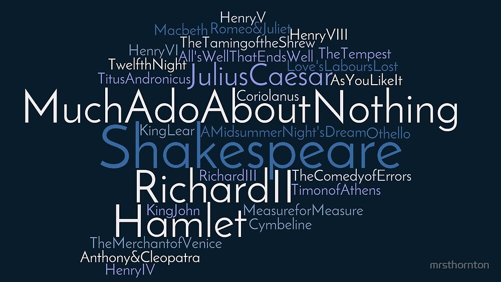 Shakespeare Cloud by mrsthornton