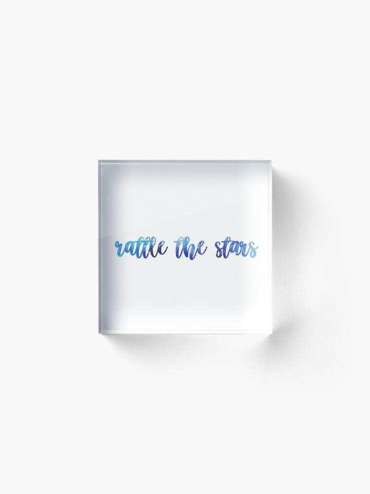Alternate view of rattle the stars Acrylic Block