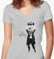 Say Anything - Dobler Women's Fitted V-Neck T-Shirt