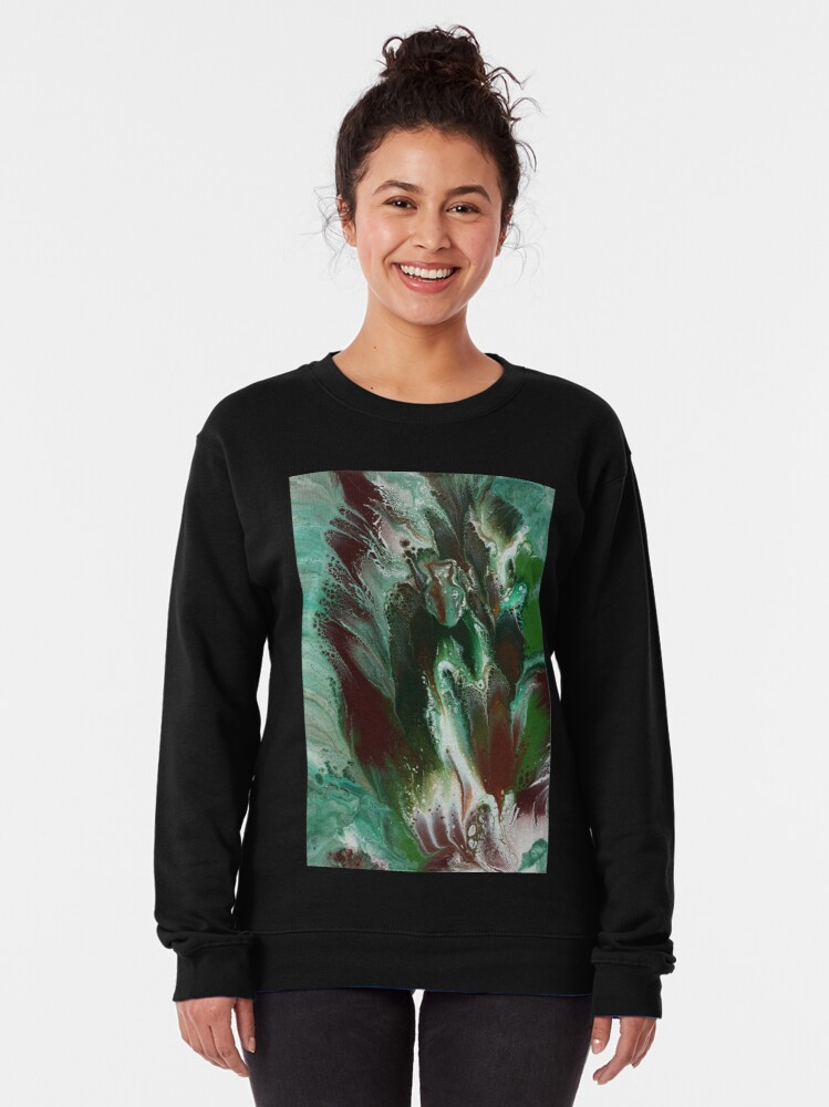 Alternate view of Fishes In The Sea Pullover Sweatshirt