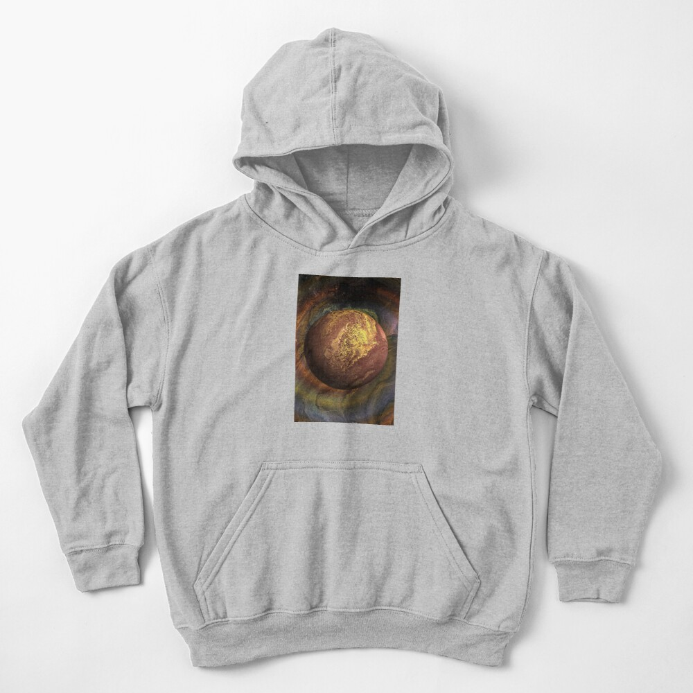 Desert Moon: outer space planet Kids Pullover Hoodie