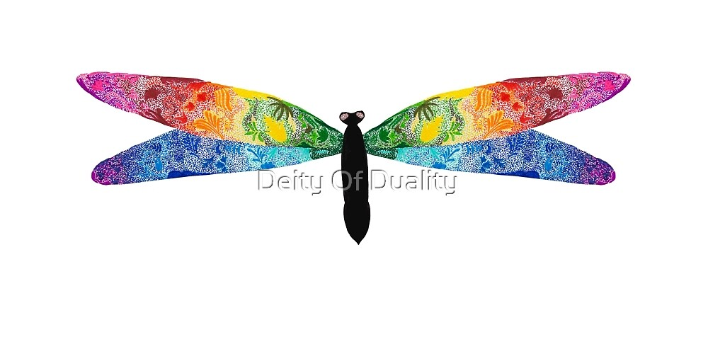 Pointillism Dragonfly by EloisaRelish