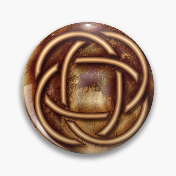 Knot Of Four: Bronze Celtic Knot Pin