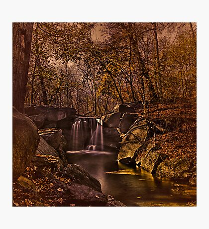 Autumn At The Waterfall In the Ravine, Central Park Photographic Print