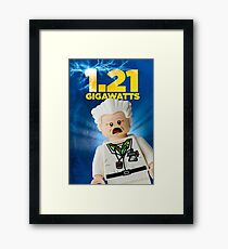 Lego Back To The Future Framed Print