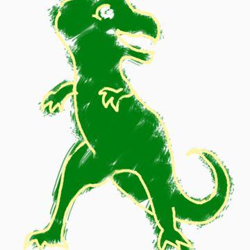 Chalkboard Design T-Rex by Starzraven