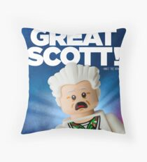 Lego Doc Brown Back To The Future Throw Pillow