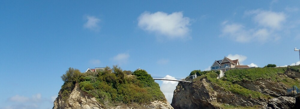 House with a Bridge - Newquay by clarebearhh