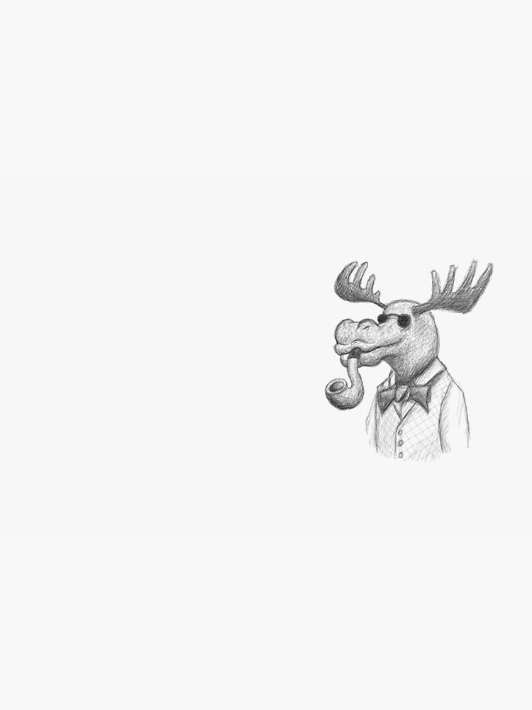 Blind Mr. Moose by Fransvb