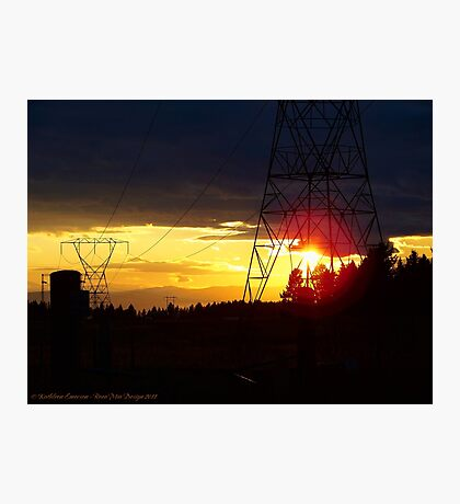 Electrified Evening Photographic Print