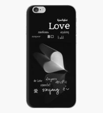 plainly ~ i love you iPhone Case B&W iPhone Case