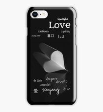 plainly ~ i love you iPhone Case B&W iPhone Case/Skin