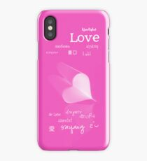 plainly ~ i love you iPhone Case Pink iPhone Case/Skin