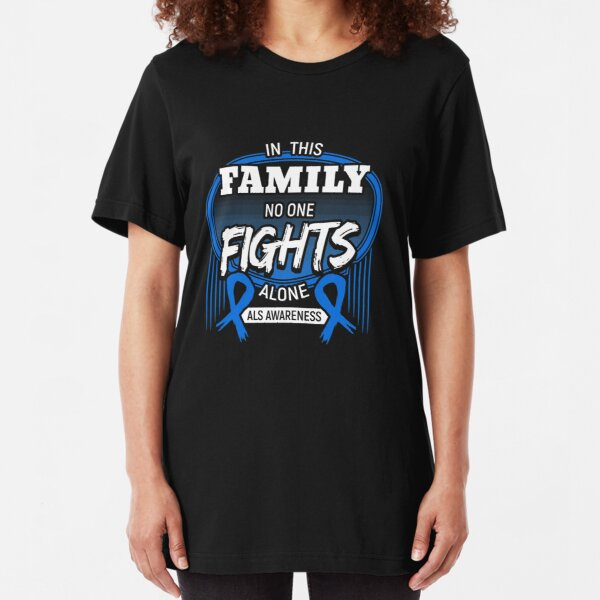 In This Family No One Fights Alone Slim Fit T-Shirt