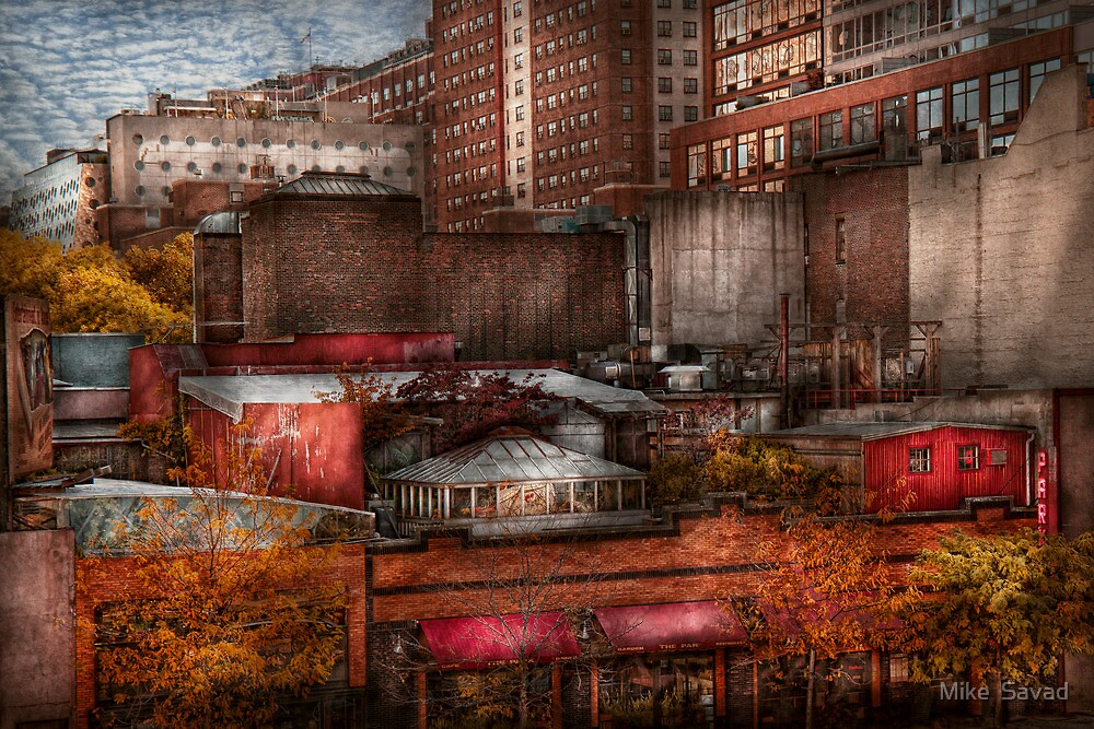 New York - City - Greenwich Village - Abstract city by Michael Savad