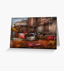 New York - City - Greenwich Village - Abstract city Greeting Card