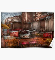 New York - City - Greenwich Village - Abstract city Poster