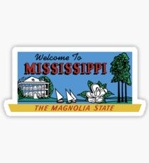 Welcome to Mississippi Sign, Vintage 50s Sticker