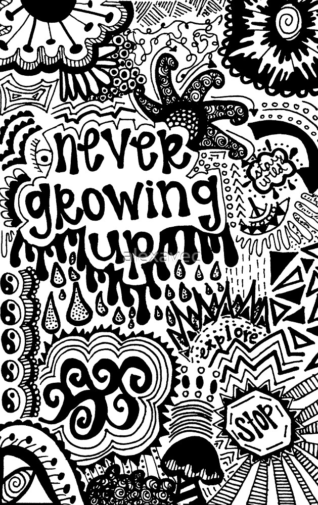 """Never Growing Up"" Trippy Design by alexavec"