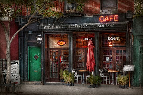 New York - Store - Greenwich Village - Sweet Life Cafe by Michael Savad