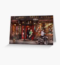 New York - Store - Greenwich Village - Three Lives Books  Greeting Card