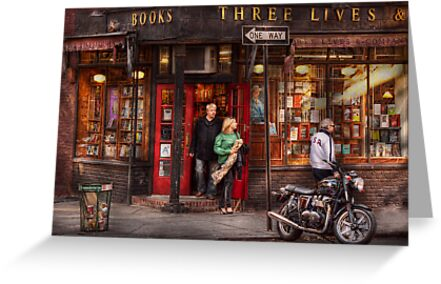 New York - Store - Greenwich Village - Three Lives Books  by Michael Savad
