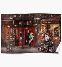 New York - Store - Greenwich Village - Three Lives Books  Poster