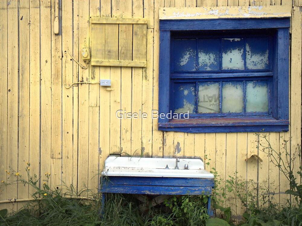 The blue window by Gisele Bedard