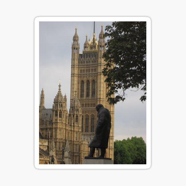 Churchill Statue, London Sticker