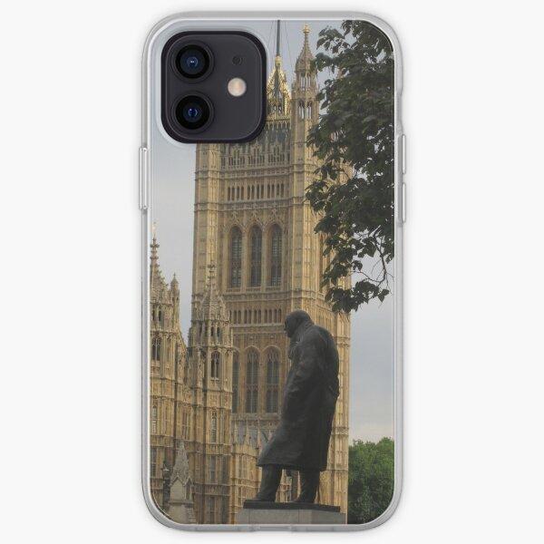 Churchill Statue, London iPhone Soft Case